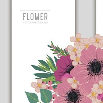 Wizytówka z pięknymi kwiatami.