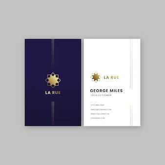 Wizytówka ze złotym logo