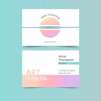 Wizytówki pastelowe gradientu