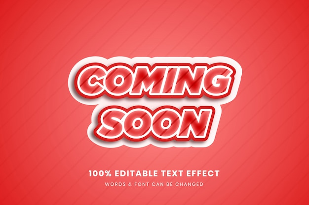 Wkrótce 3d edytowalny efekt tekstowy