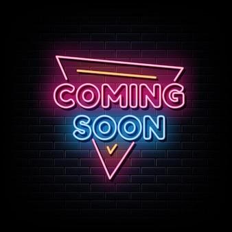 Wkrótce neony zaprojektuj szablon neonowy znak