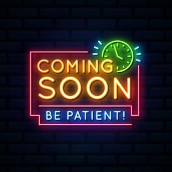 Wkrótce pojawi się neonowy znak na ceglanej ścianie