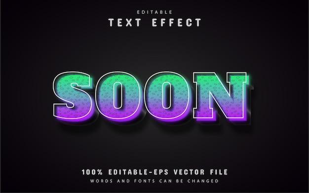 Wkrótce styl gradientu efektu tekstu