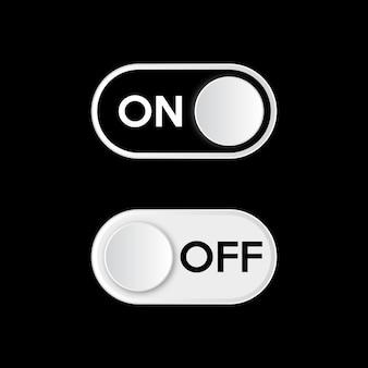 Włącz tryb ciemny. włącznik i wyłącznik przełącznika.