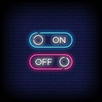 Włączanie i wyłączanie tekstu w stylu neonów