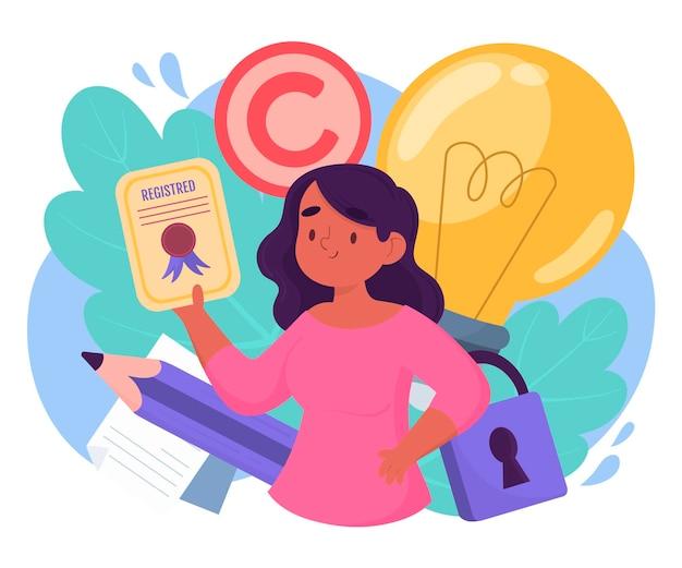 Własność intelektualna praw autorskich