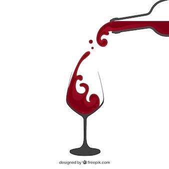 Wlewanie wina czerwonego