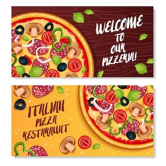 Włoska pizza poziome banery
