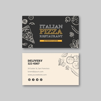 Włoska restauracja szablon wizytówki
