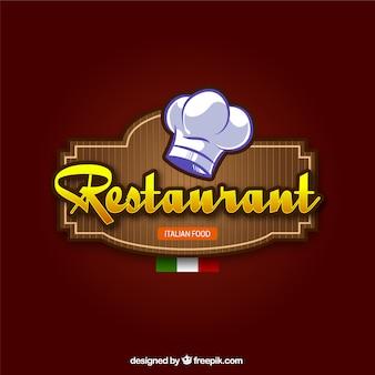 Włoska restauracja w tle
