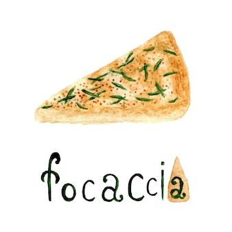 Włoski rozmarynowy chleb focaccia