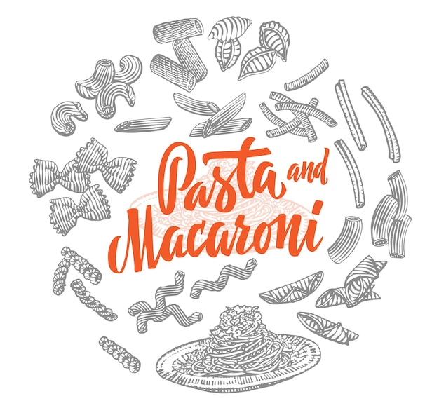 Włoskie elementy żywności okrągły skład