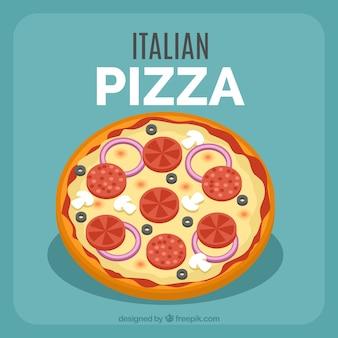 Włoskie tło pizzy
