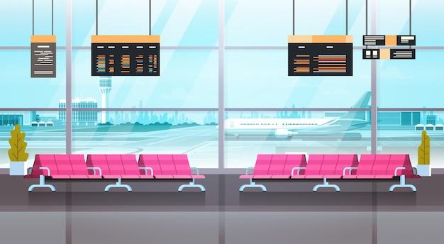 Wnętrza hali odlotów lotniska wyjazd