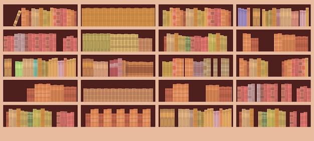 Wnętrze biblioteki półki