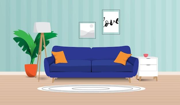 Wnętrze domu - tło do wideokonferencji