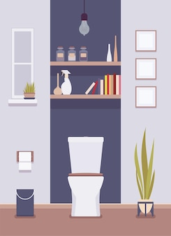 Wnętrze i projekt toalety