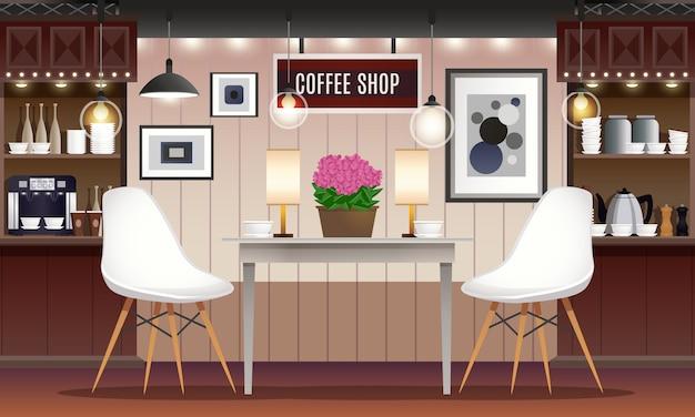 Wnętrze kawiarni bar