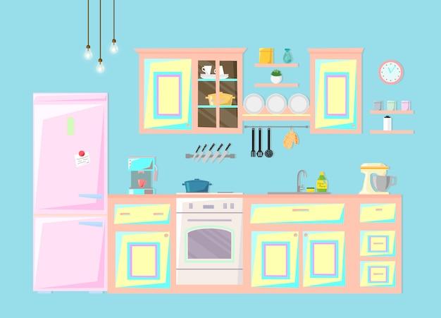 Wnętrze kuchni.