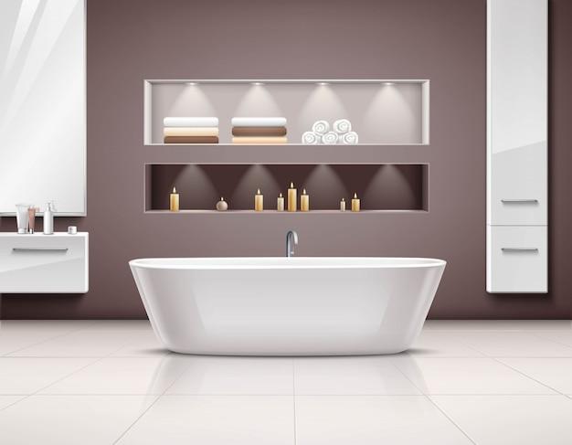 Wnętrze łazienki realistyczny design