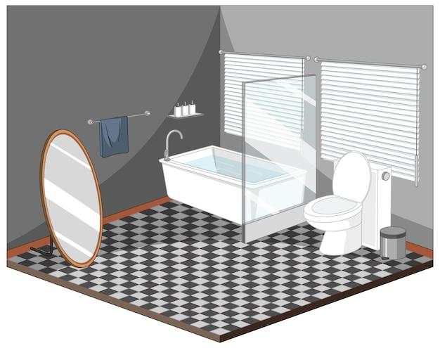 Wnętrze łazienki z meblami