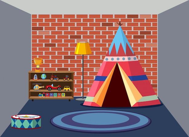 Wnętrze pokoju zabaw dla dzieci