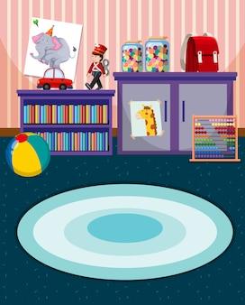 Wnętrze pokoju zabaw