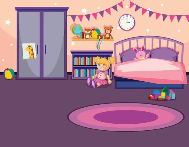 Wnętrze sypialni dziewczyny