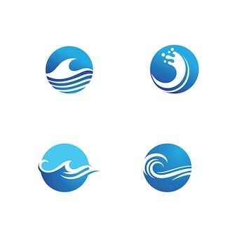 Woda fala ikona wektor ilustracja projekt logo