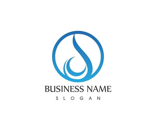 Woda kropla ikona logo szablon wektor