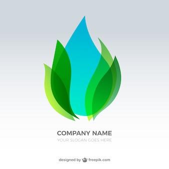 Woda oddziałów upuść logo