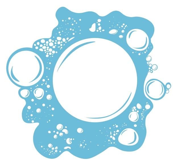 Wody musujące, piana z bąbelkami