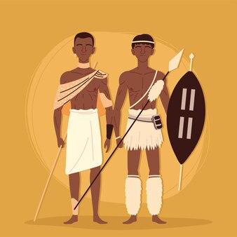 Wojownik aborygeńskich mężczyzn