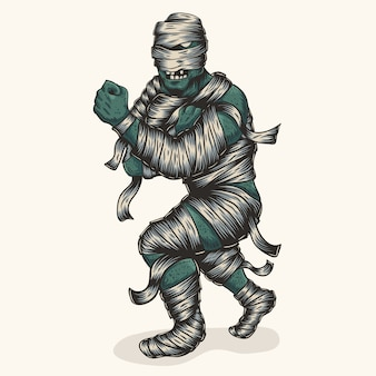 Wojownik mumia zombie
