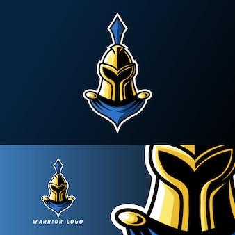 Wojownik spartański rzymski rycerz sport logo esport logo szablon