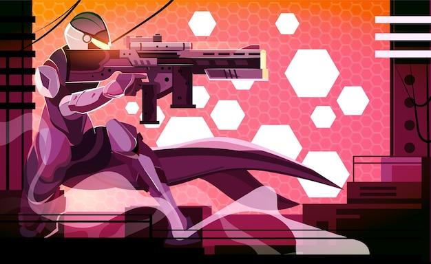 Wojskowa cyberpunkowa strzelanka sci fi future