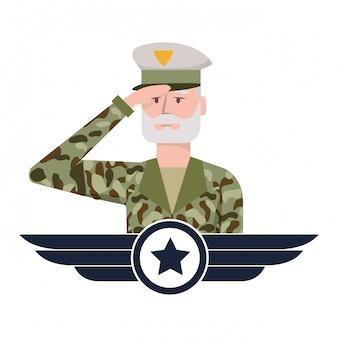 Wojskowy mężczyzna