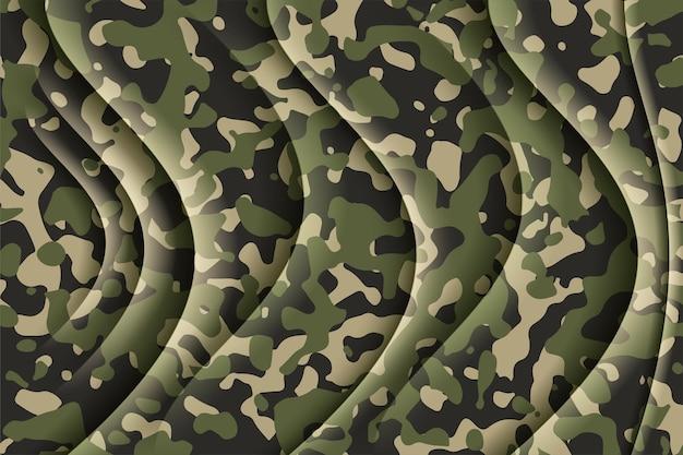 Wojskowy wzór kamuflażu w kształcie wzoru projektowania tkanin
