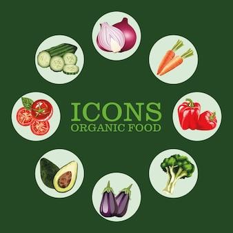 Wokół osiem świeżych warzyw