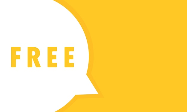 Wolna mowa bańka baner. dowolny tekst. może być używany w biznesie, marketingu i reklamie. wektor eps 10. na białym tle.