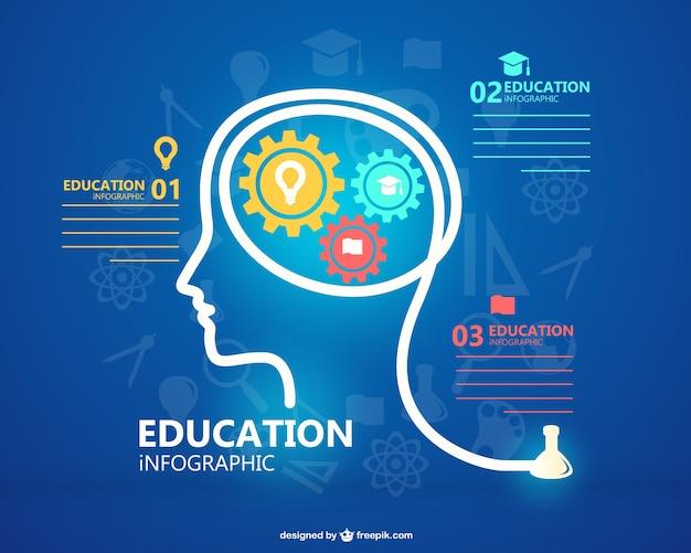Wolne infografika edukacja szablon