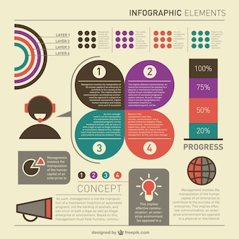 Wolne infografika szablon