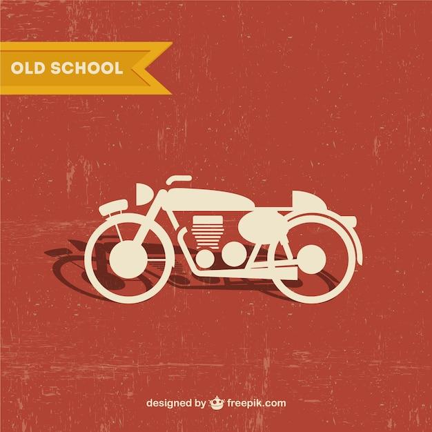 Wolne retro motocykla wektor