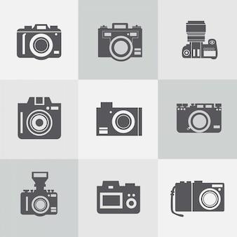 Wolne rocznika wektor kolekcja aparatów fotograficznych