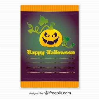 Wolne szablon karty z halloween