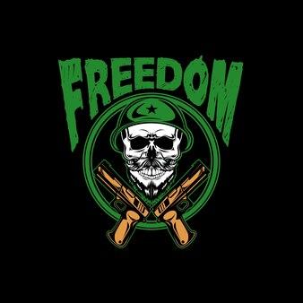 Wolność Armii Czaszki Premium Wektorów