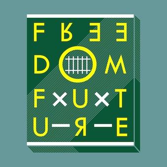 Wolność tekst typografii t shirt design