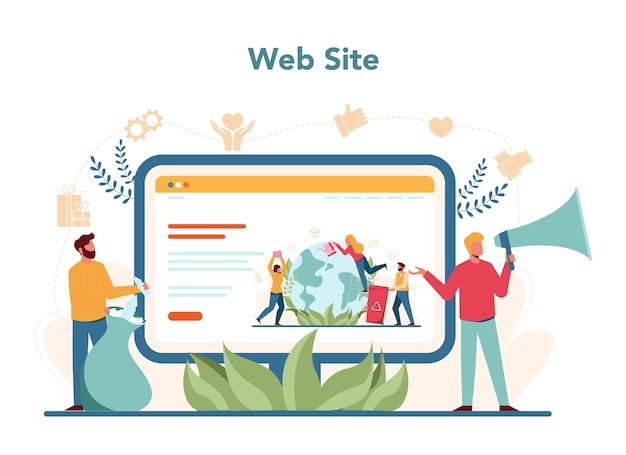 Wolontariat internetowy lub zestaw platform