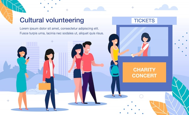 Wolontariat na płaskim koncercie charytatywnym