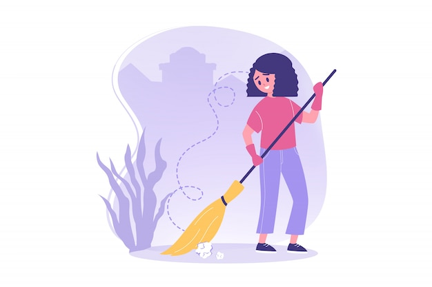 Wolontariat, praca, koncepcja ochrony środowiska